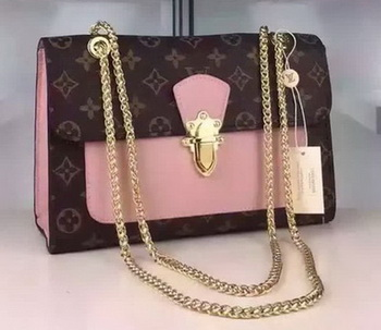 Louis Vuitton Monogram Canvas PALLAS CHAIN Bag M41731 Pink