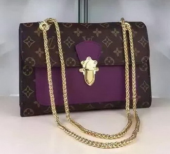 Louis Vuitton Monogram Canvas PALLAS CHAIN Bag M41731 Purple