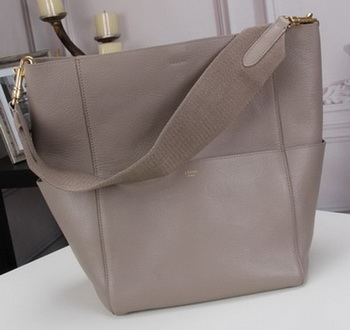 CELINE Sangle Seau Bag in Original Goat Leather C3360 Grey