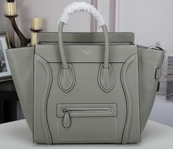 Celine Luggage Mini Tote Bag Original Litchi Leather CLY33081L Grey