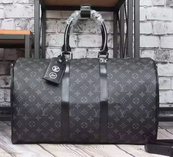 Louis Vuitton Monogram Eclipse Canvas KEEPALL 45 BANDOULIERE M40569