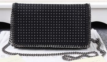 Stella McCartney Falabella PVC Cross Body Bags SM829T Black