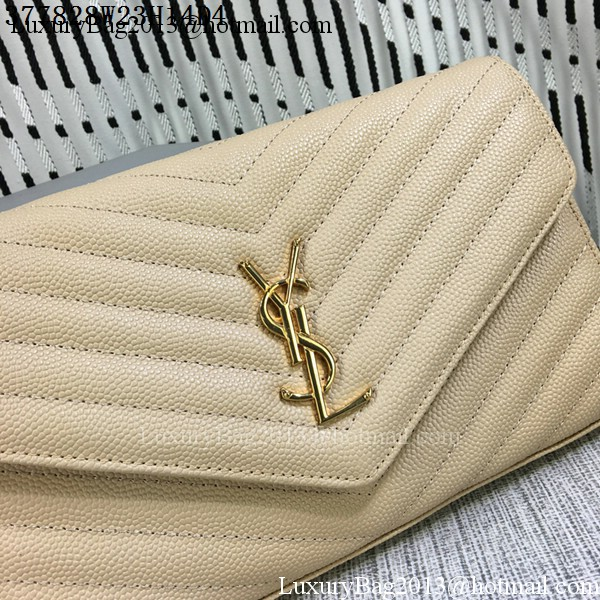 YSL Classic Monogramme Flap Bag Cannage Pattern Y377828L Apricot