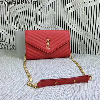 YSL Classic Monogramme Flap Bag Cannage Pattern Y377828L Red