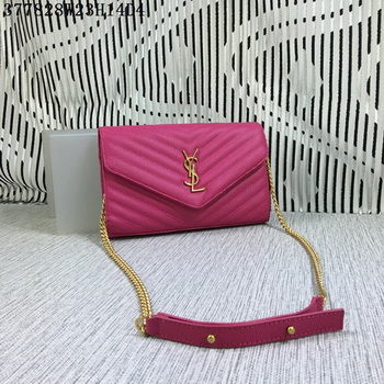 YSL Classic Monogramme Flap Bag Cannage Pattern Y377828L Rose