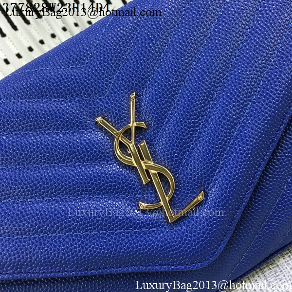 YSL Classic Monogramme Flap Bag Cannage Pattern Y377828L Royal