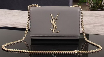 Yves Saint Laurent Monogramme Cross-body Shoulder Bag 1311228 Grey