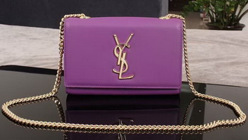 Yves Saint Laurent Monogramme Cross-body Shoulder Bag 1311228 Purple