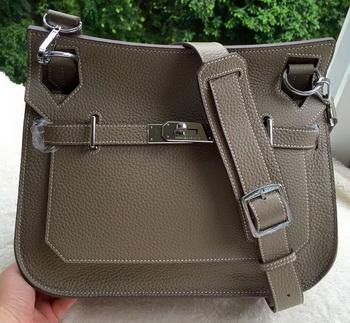 Hermes Jypsiere 31CM Shoulder Bag Calfskin Leather H0880 Grey