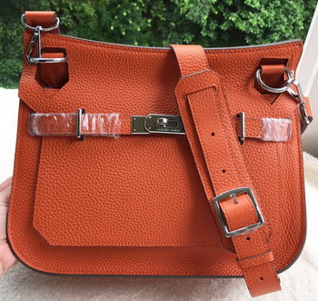 Hermes Jypsiere 31CM Shoulder Bag Calfskin Leather H0880 Orange