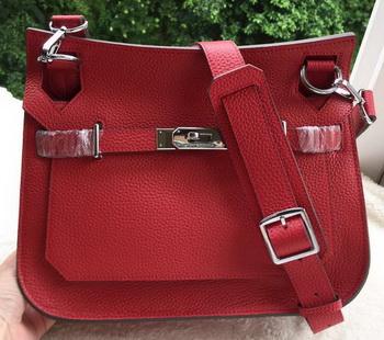Hermes Jypsiere 31CM Shoulder Bag Calfskin Leather H0880 Red