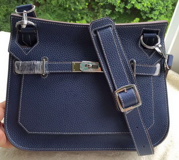 Hermes Jypsiere 31CM Shoulder Bag Calfskin Leather H0880 Royal