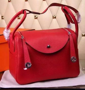Hermes Lindy 30CM Leather Shoulder Bag H0881 Red