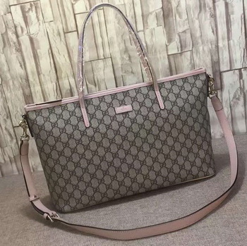 Gucci GG Supreme Canvas Tote Bag 353440 Pink