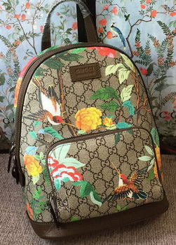 Gucci Limited Edition GG Supreme Backpack 427042 Brown