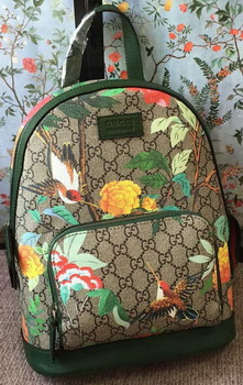 Gucci Limited Edition GG Supreme Backpack 427042 Green