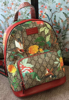 Gucci Limited Edition GG Supreme Backpack 427042 Red