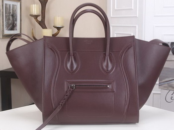 Celine Luggage Phantom Tote Bag Smooth Leather CT3341 Burgundy