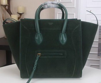 Celine Luggage Phantom Tote Bag Suede Leather CT3341 Green