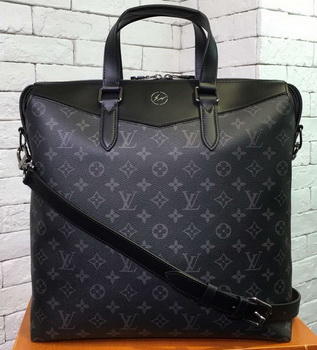 Louis Vuitton Monogram Eclipse Canvas BRIEFCASE EXPLORER M40567