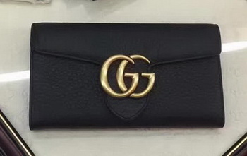 Gucci GG Marmont Continental Wallet 400586 Black