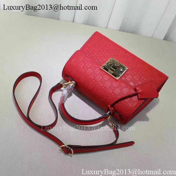 Gucci Padlock Gucci Signature Top Handle Bag 453188 Red