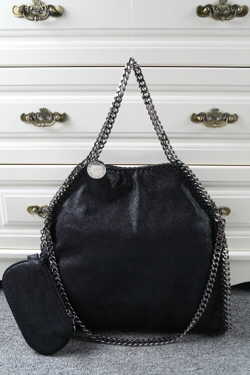 Stella McCartney Denim Tote Bag SM809 Black