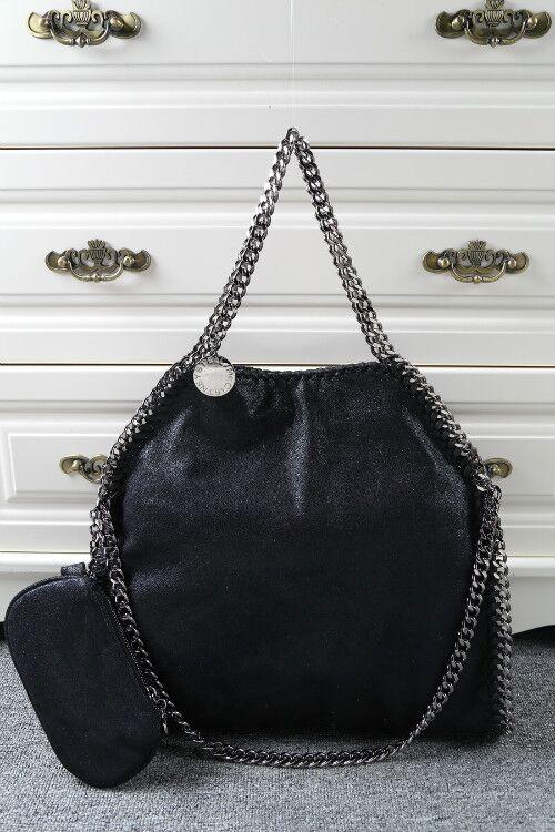 Stella McCartney Denim Tote Bag SM809 Black