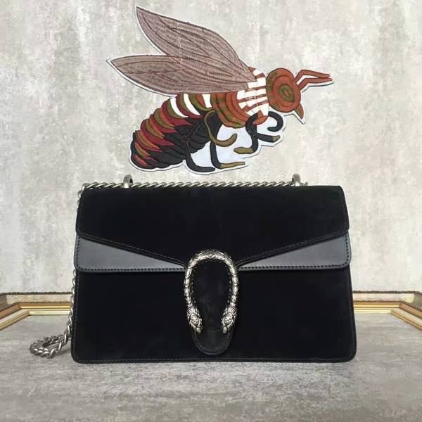 Gucci Dionysus Suede Leather Mini Shoulder Bag 400249 Black