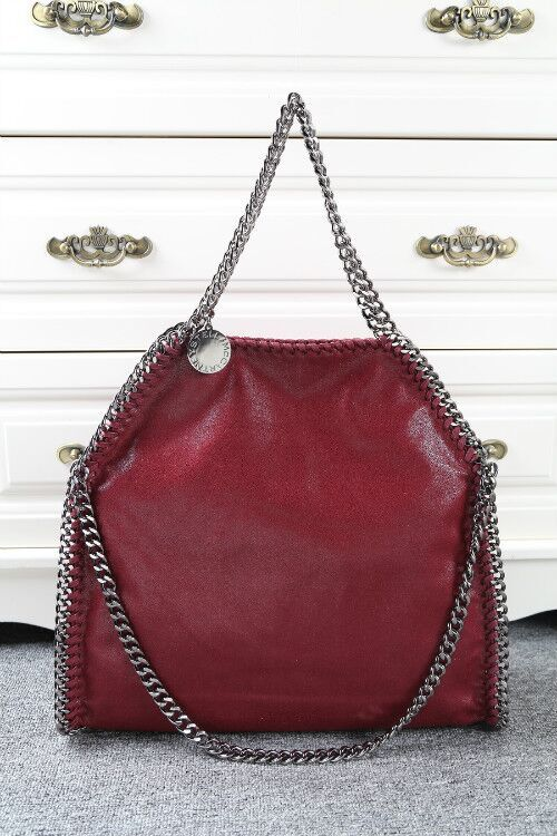 Stella McCartney Denim Tote Bag SM809 Wine