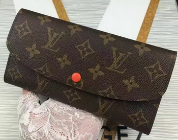 Louis Vuitton Monogram Canvas Emilie Wallet M60696 Orange