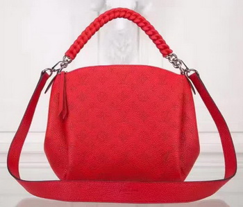 Louis Vuitton Mahina Leather BABYLONE CHAIN BB Bag M51223 Red