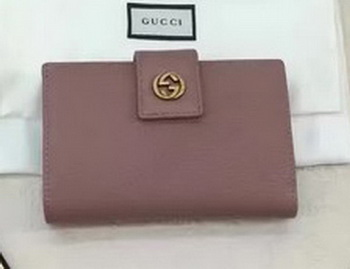Gucci Calfskin Leagther Wallet 337023 Pink