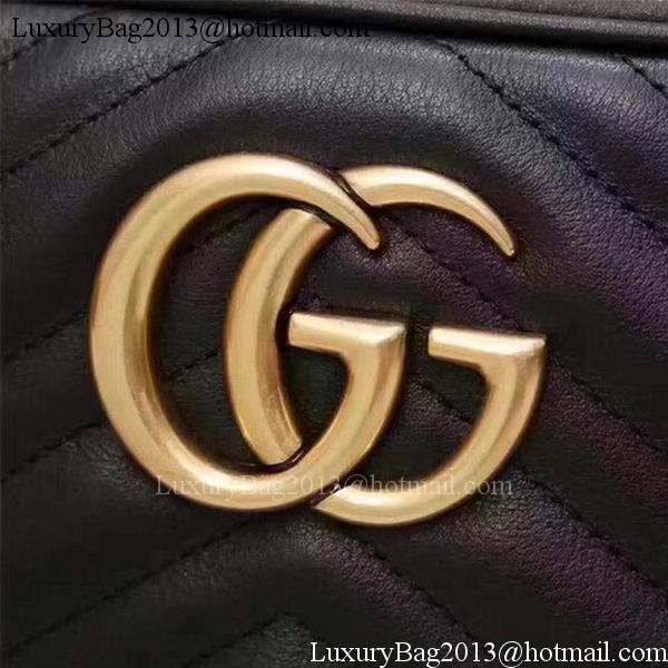 Gucci GG Marmont Matelasse Shoulder Bag 447632 Black