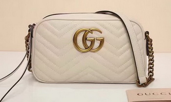 Gucci GG Marmont Matelasse Shoulder Bag 447632 OffWhite