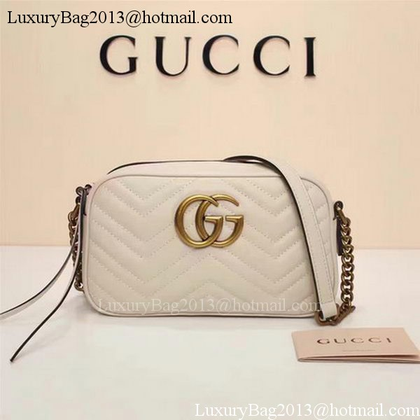 Gucci GG Marmont Matelasse Shoulder Bag 447632 OffWhite