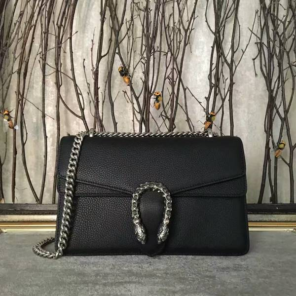 Gucci Dionysus Lichee Pattern Medium Shoulder Bag 400249 Black