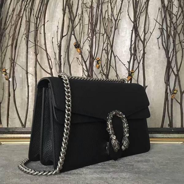 Gucci Dionysus Lichee Pattern Medium Shoulder Bag 400249 Black