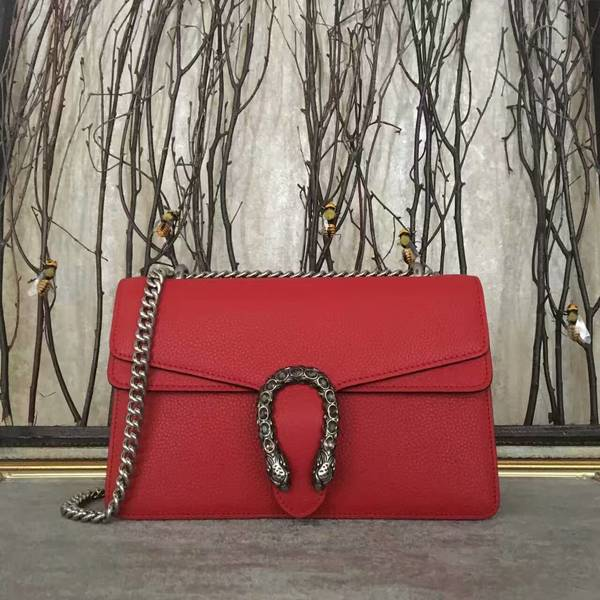 Gucci Dionysus Lichee Pattern Medium Shoulder Bag 400249 Red