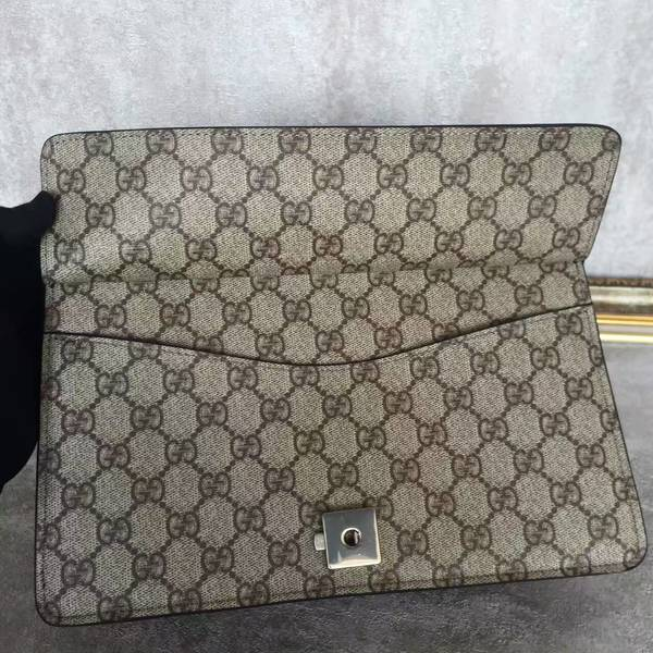 Gucci Medium Dionysus GG Canvas Shoulder Bag 400249 Black