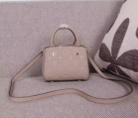 Louis Vuitton Monogram Empreinte NANO MONTAIGNE Bag M50865 Apricot