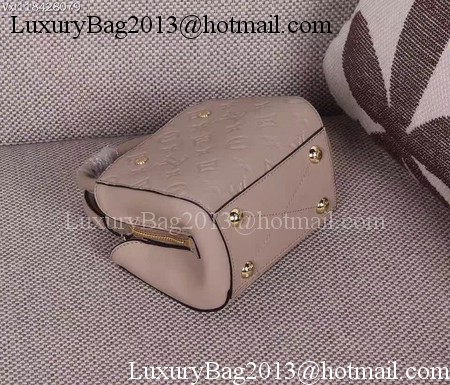 Louis Vuitton Monogram Empreinte NANO MONTAIGNE Bag M50865 Apricot