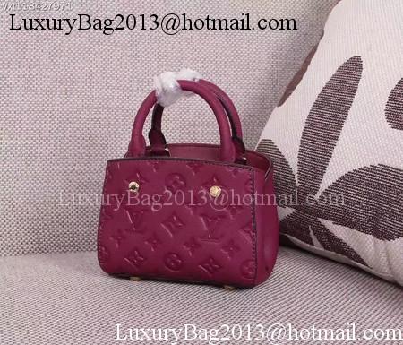 Louis Vuitton Monogram Empreinte NANO MONTAIGNE Bag M50865 Purple