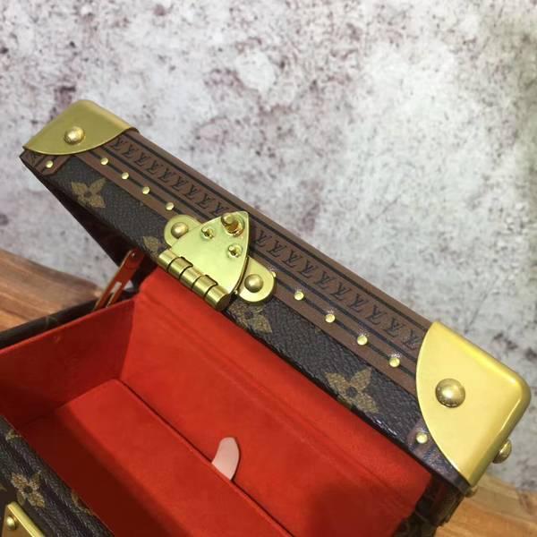Louis Vuitton Mini Monogram Canvas Treasure Box 40665 Light Red