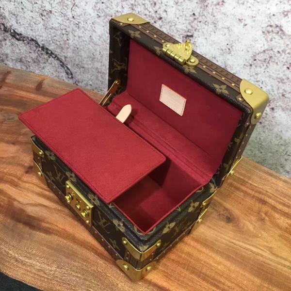 Louis Vuitton Mini Monogram Canvas Treasure Box 40665 Marroon