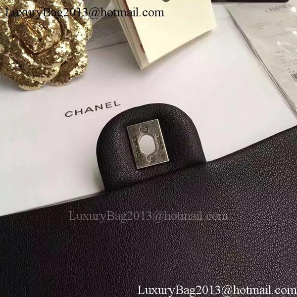 Chanel 2.55 Series Flap Bags Original Deerskin Leather A1112 Black