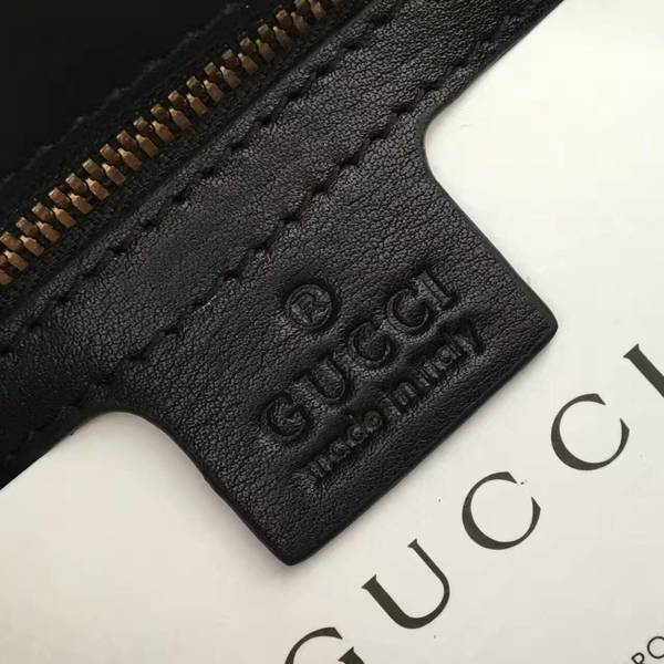 Gucci GG Marmont Velvet Shoulder Bag 443497 Black&White