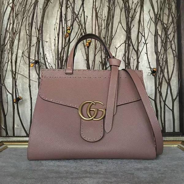 Gucci GG Marmont Leather Top Handle Bag 421890A Apricot