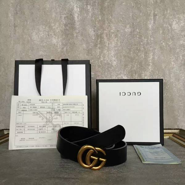 Gucci Original Calf Leather 3.5CM Belt 68884C