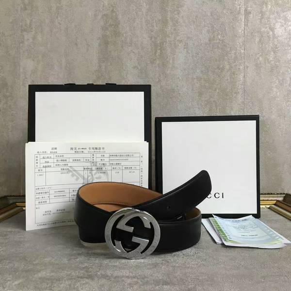 Gucci Original Calf Leather 3.5CM Belt 68884D